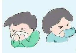 在咳嗽或者打喷嚏时都要遵守咳嗽礼仪