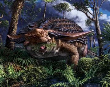 有史以来保存最完好的恐龙胃揭示了睡龙的最后一餐