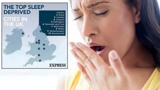 研究表明博尔顿是整个英国睡眠最匮乏的城市